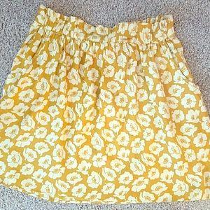 Dresses & Skirts - Cute Little skirt! XS/S w/ Pockets. Mustard & whte